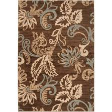 brown and tan area rug orian rugs treasure box copper 5 ft 3 in x 7 ft 6 in indoor