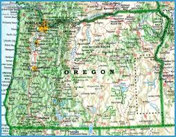 map of oregon travel map vacations travelsfinders
