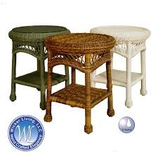 round wicker end table wicker end table outdoor resin side table