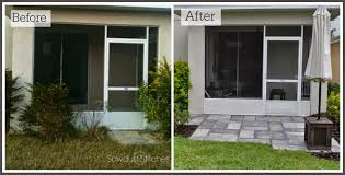 Cost Of A Paver Patio by Paver Patio Makeover Sawdust 2 Stitches