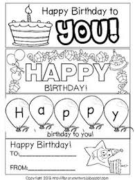 printable birthday cards that you can color printable birthday bookmarks to color back to school ideas
