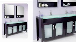 fresca infinito modern bathroom vanity w tempered glass double