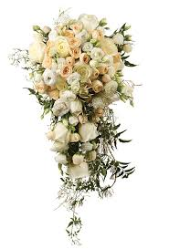wedding flowers design cascade bouquet just with tendrils of and soft