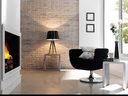 very popular modern living areas decor with built in fireplace