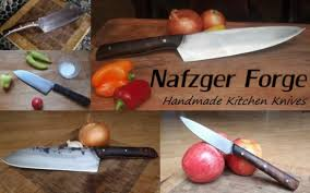 nafzger forge makes custom hand forged kitchen knives that are as