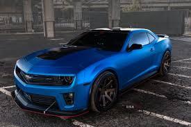 chevrolet camaro zl1 2014 matte blue 2014 chevy camaro zl1 on ferrada wheels rides magazine