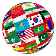 Football Country Flags Collage Of The Flags Of Asian Countries U2014 Stock Photo Zloyel