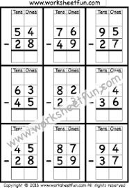 subtraction regrouping free printable worksheets u2013 worksheetfun