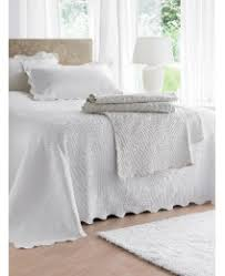 Quilted Bed Valance Embroidered Bed Linen Luxury Cotton Bedspread Quilted