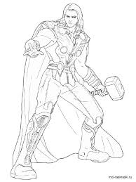 Thor Coloring Pages Free Printable Thor Coloring Pages Thor Coloring Page