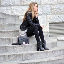 female biker boots with heels women u0027s black leather biker jacket grey swing dress black
