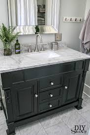 Bathroom Vanities With Top by Diy Show Off Black Vanity Marble Vanity Tops And Carrara