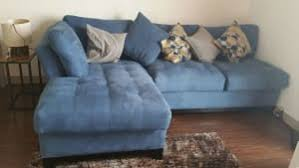 cindy crawford sectional sofa cindy crawford 2pc metropolis sectional sofa indigo for sale in