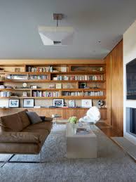 Modern Art Deco Interior Art Deco Interior Design Of Simple Livg Space With Library Brown