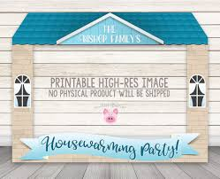 printable housewarming party photo booth frame new home
