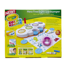 crayola color wonder magical mess free light up stamper includes
