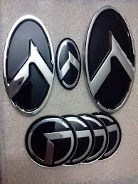new mazda logo new black k logo badge emblem fit for kia optima k5 exterior