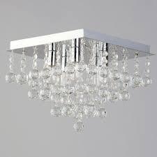 orlando 5 light bathroom square flush ceiling light chrome
