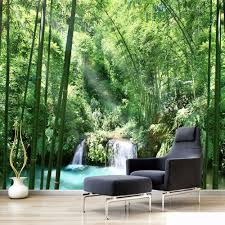 online buy wholesale bamboo wallpaper from china bamboo wallpaper custom 3d wall murals wallpaper bamboo forest natural landscape art design mural painting living room home