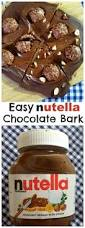 easy no bake nutella chocolate bark recipe nutella chocolate
