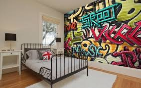 Graffiti Wallpaper  Wall Murals Wallsauce USA - Graffiti bedroom