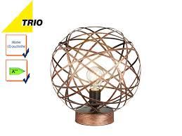 Wohnzimmerlampe Kupfer Trio Kugel Tischleuchte Jacob 30cm Mit Led Design Kupfer Antik