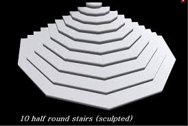 second life marketplace half round stairs 10 steps