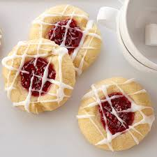 raspberry recipes raspberry thumbprint cookies with almond glaze recipe land o lakes