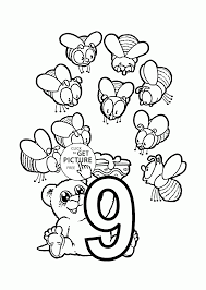 number 9 coloring pages for preschoolers counting numbers