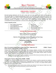 Teaching Resume Template Preschool Resume Sle Page 1 Curriculum And