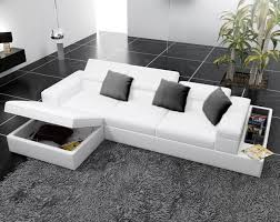 White Leather Corner Sofa Bed Modern White Leather Corner Sofas With Underneath Storage