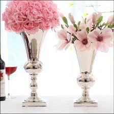 Large Metal Vase Aliexpress Com Buy Large Diamete Tabletop Metal Vase Decorative