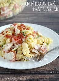 chicken bacon ranch pasta salad creations by kara