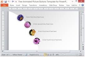 free animated picture buttons template for powerpoint