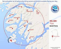 Greenland Map Heliskigreenland Greenland Maniitsoq Heliski Package Mountains