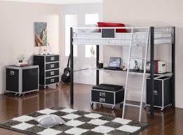 black grey metal bedroom dresser combined checkered board area rug