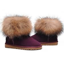 womens ugg fur boots womens ugg fox fur sheepskin fox mini boots 5854 black outlet