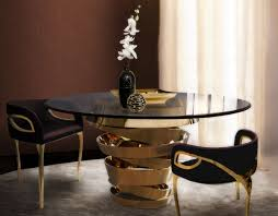 10 round dining tables for a glamourous dining room design