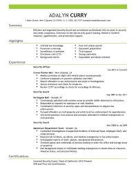 security guard resume best security guard resume exle livecareer