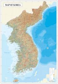 Map Of North East Large Detailed Topography And Geology Map Of Korea North Korea