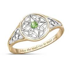 celtic ring ring celtic beauty genuine peridot womens ring