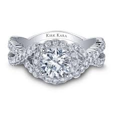 twisted halo engagement ring kirk kara pirouetta criss cross twist halo engagement ring