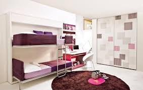 wall mounted bunk bed for teen design with metal ladder and corner