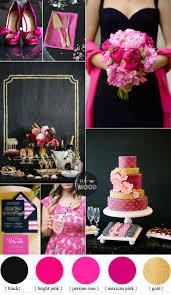 theme black rose black and hot pink wedding colour theme bright pink perisian