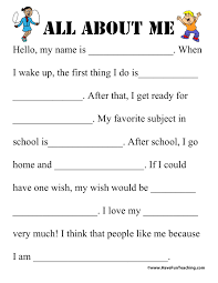 resume builder worksheet all about me templates virtren com sheet printable images gallery category page 18 printoback