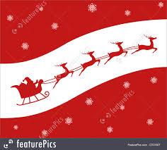 holidays santa u0027s sleigh christmas card stock illustration