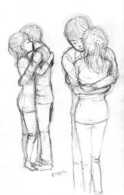 sketches for anime friends hugging sketch www sketchesxo com