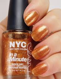 holiday glitz with nyc new york color nail polish be happy and