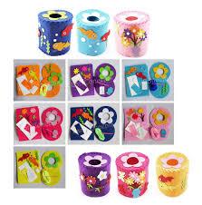 kids toy diy craft kit nonwoven felt tissue toilet paper holder