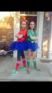 mario and luigi halloween costumes for girls materials dark blue